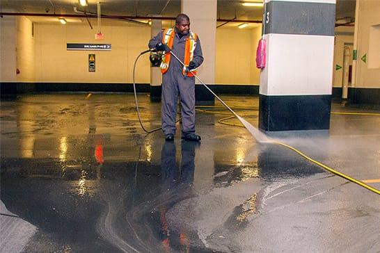 Parking Lot Pressure Washing